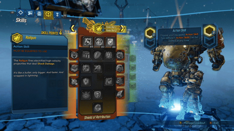 Moze Shield of Retribution Skill Tree- Borderlands 3