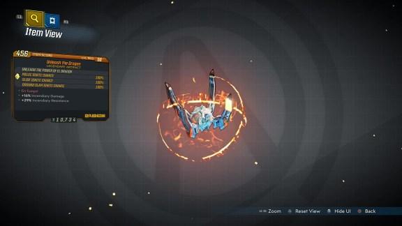 Borderlands 3 Legendary Eridian Artifact - Unleash the Dragon