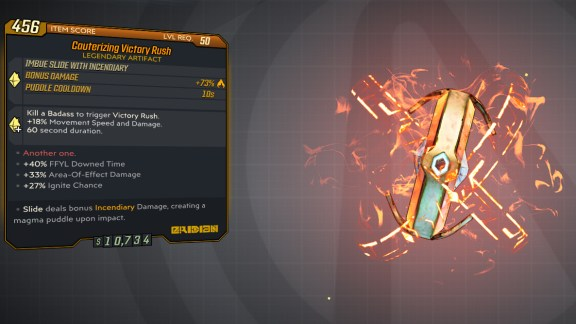 Borderlands 3 Legendary Eridian Artifact - Victory Rush