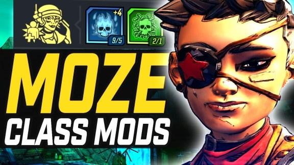 Moze - Legendary Class Mods Overview - Borderlands 3
