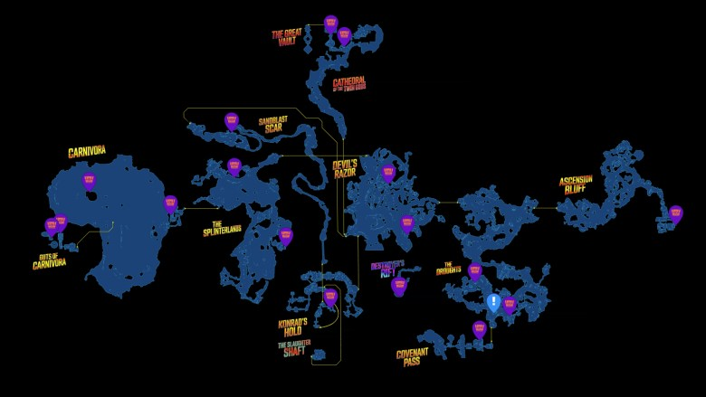 Pandora Red Chest Locations