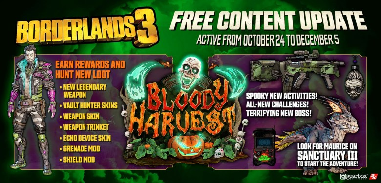 bloody harvest event loot - Borderlands 3