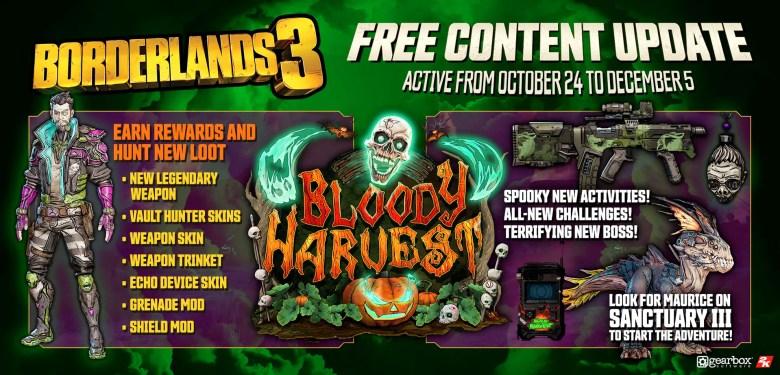 bloody harvest event loot - Borderlands 3