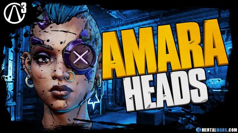 Amara - Heads - Borderlands 3
