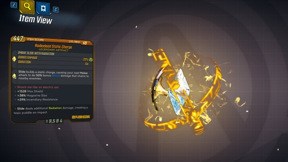 Borderlands 3 Legendary Eridian Artifact - Static Charge