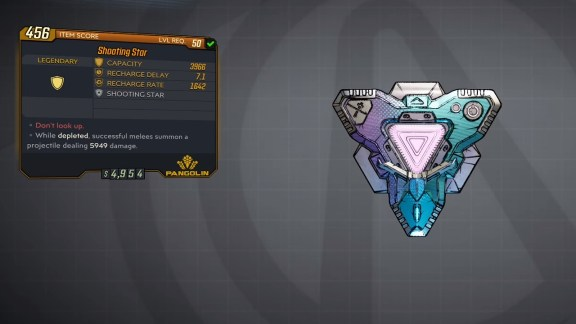 Borderlands 3 Legendary Pangolin Shield - Shooting Star