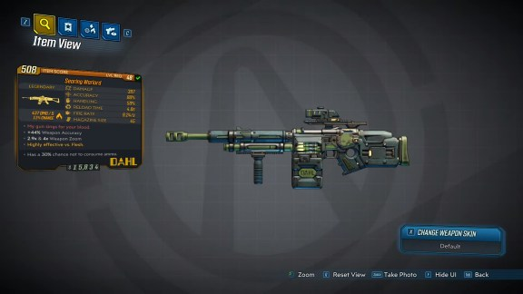 Borderlands 3 Legendary Dahl Assault Rifle - Warlord