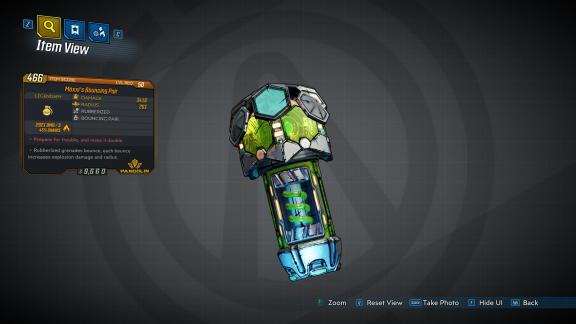 Borderlands 3 Legendary Pangolin Grenade Mod - Moxxi's Bouncing Pair
