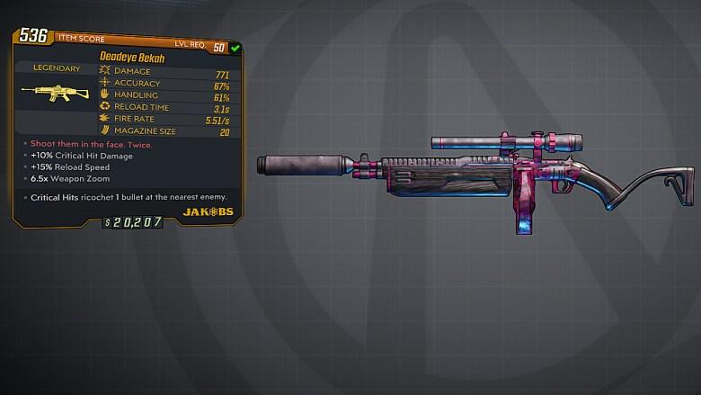 Borderlands 3 Legendary Jakobs Assault Rifle - Bekah