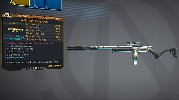 Borderlands 3 Legendary Jakobs Assault Rifle - Gatlin Clairvoyance
