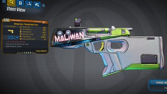 Borderlands 3 Legendary Maliwan Pistol - Thunderball Fists
