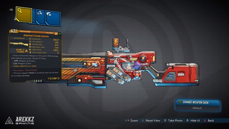 Borderlands 3 Legendary Tediore Shotgun - Unlimited Firesale Anarchy