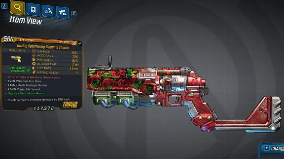 Borderlands 3 Legendary Torgue Pistol - Roisen's Thorns