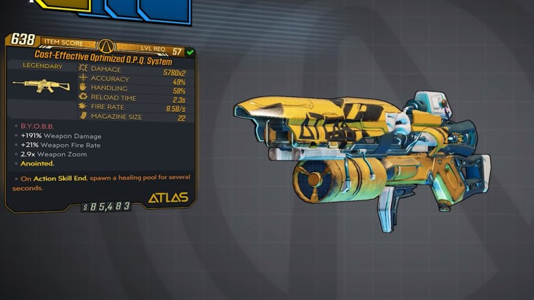 Borderlands 3 Legendary Atlas Assault Rifle - O.P.Q. System