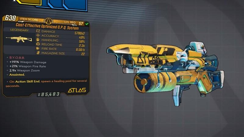 Borderlands 3 Legendary Atlas Assault Rifle - O.P.Q. System