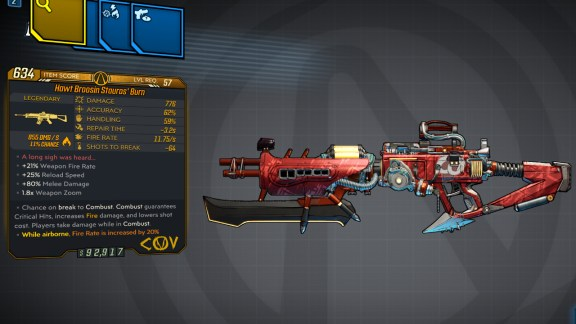 Borderlands 3 Legendary COV Assault Rifle - Stauros' Burn