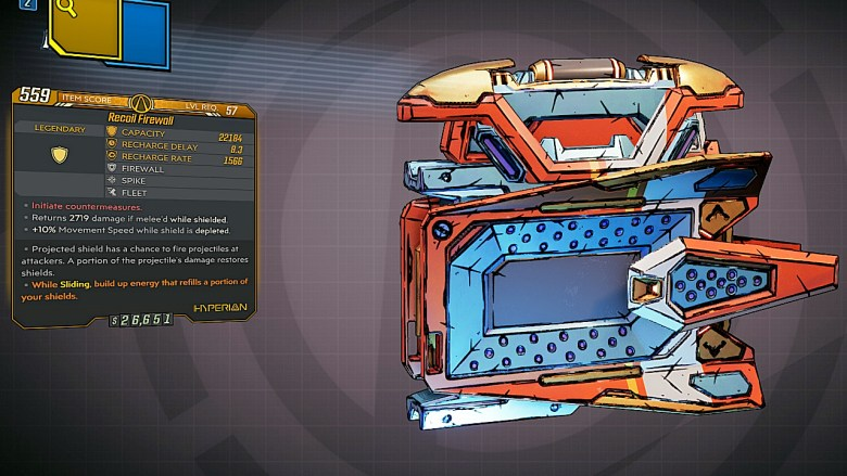 Borderlands 3 Legendary Hyperion Shield - Firewall