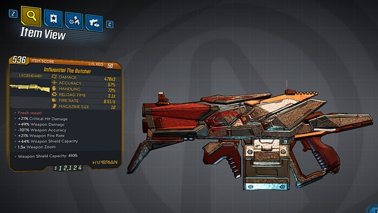 Borderlands 3 Legendary Hyperion Shotgun - The Butcher