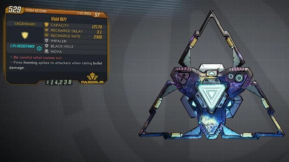 Borderlands 3 Legendary Pangolin Shield - Void Rift