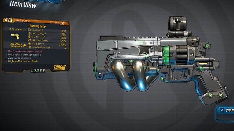 Borderlands 3 Legendary Torgue Pistol - Echo