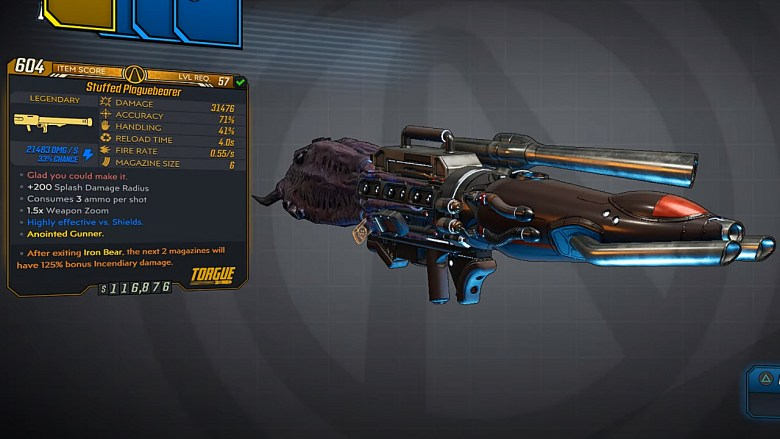 Borderlands 3 Legendary Torgue Rocket Launcher - Plaguebearer