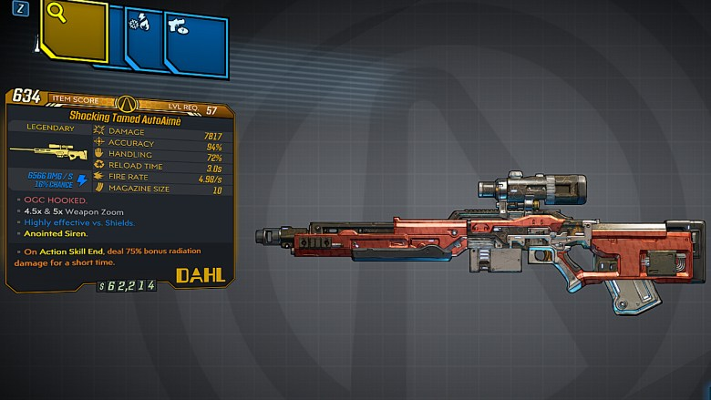 Borderlands 3 Legendary Dahl Sniper Rifle - AutoAimè