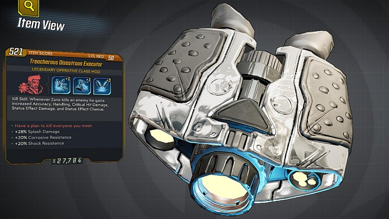 Borderlands 3 Legendary Operative Class Mod - Executor