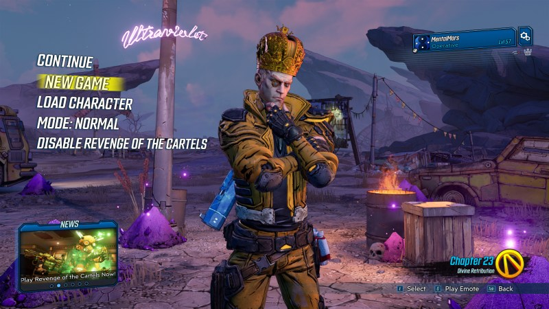 Borderlands 3 - Starting a New Character