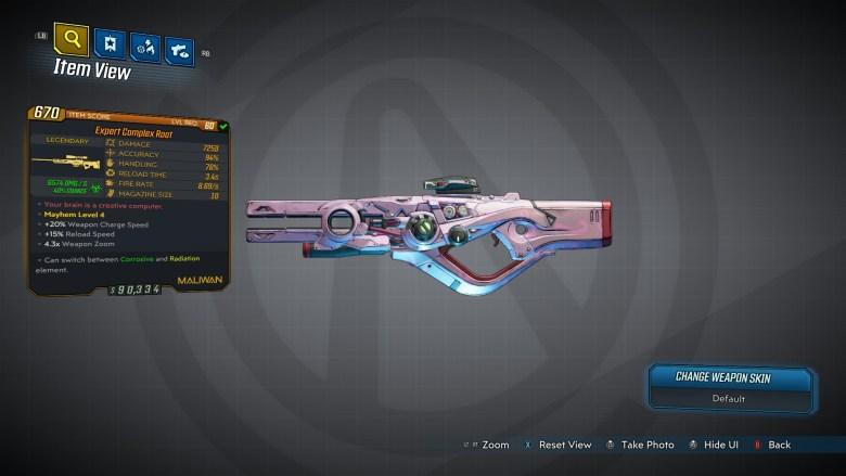 Borderlands 3 Legendary Maliwan Sniper Rifle - Complex Root