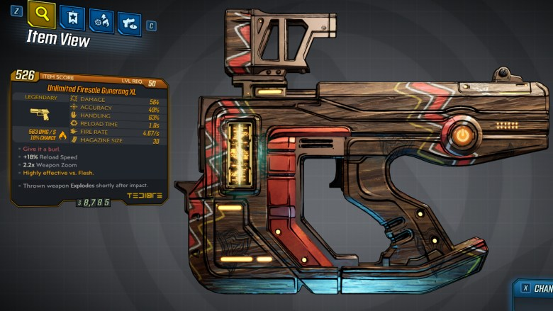 Borderlands 3 Legendary Tediore Pistol - Gunerang