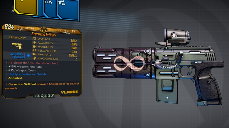 Borderlands 3 Legendary Vladof Pistol - Infinity
