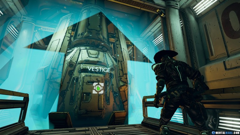 Use the drop pod in the Cargo bay to go to Vestige.