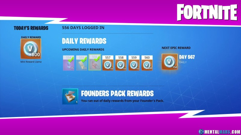 Fortnite Daily Rewards