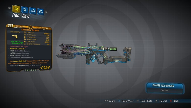 Borderlands 3 Legendary COV Pistol - Gargoyle