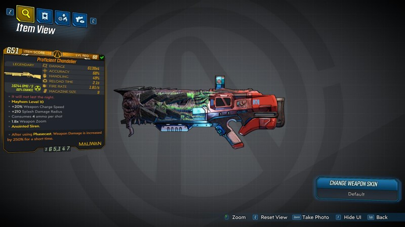 Borderlands 3 Legendary Maliwan Shotgun - Chandelier