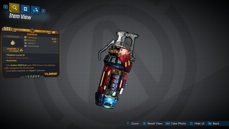 Borderlands 3 Legendary Vladof Grenade Mod - Epicenter