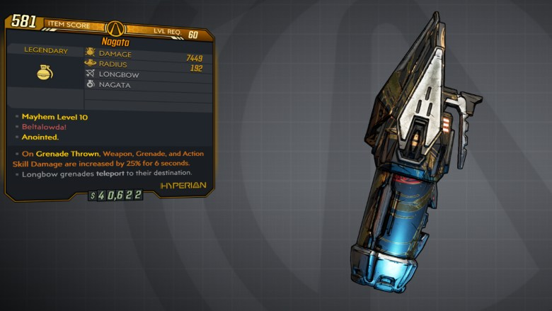 Borderlands 3 Legendary Hyperion Grenade Mod - Nagata