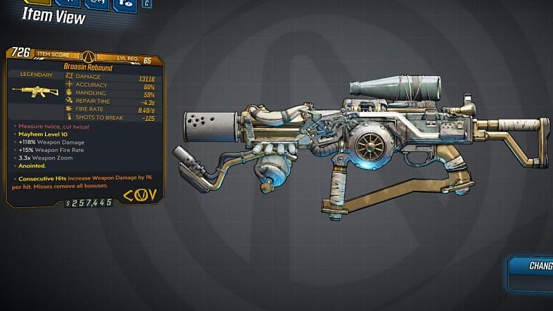 Borderlands 3 Legendary COV Assault Rifle - Rebound