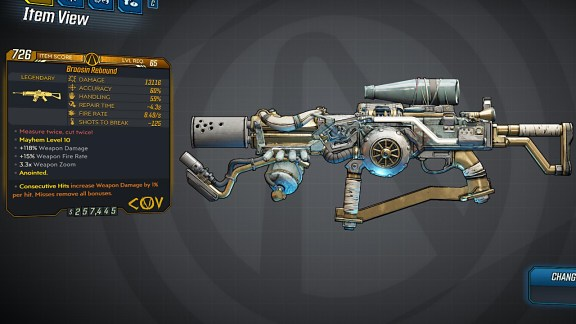 Borderlands 3 Legendary COV Assault Rifle - Rebound
