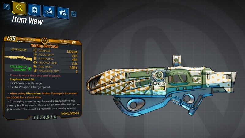 Borderlands 3 Legendary Maliwan Shotgun - Blind Sage