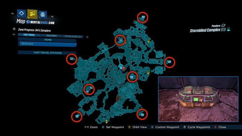 Arms Race Red Chest Locations - Borderlands 3