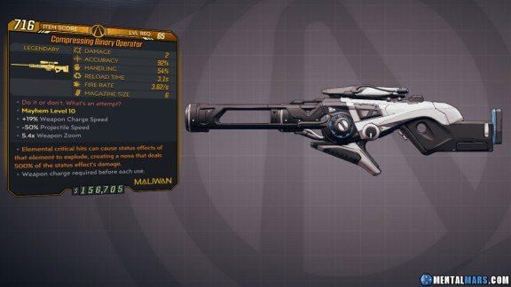 Borderlands 3 Legendary Maliwan Sniper Rifle - Binary Operator