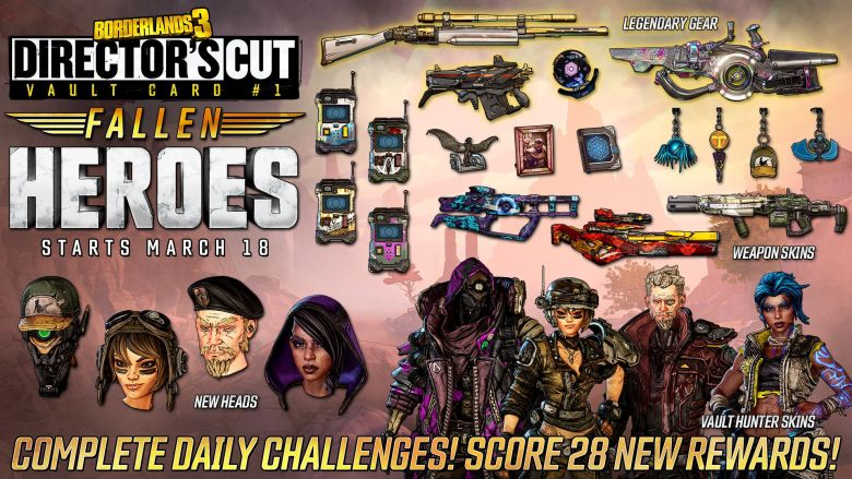 Fallen Heroes Vault Card - Borderlands 3 DLC6