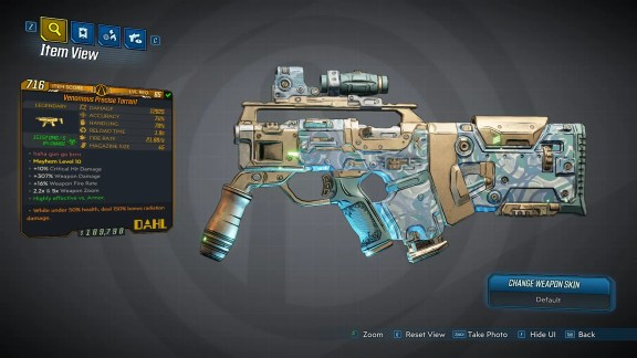 Borderlands 3 Legendary Dahl SMG - Torrent - LVL65