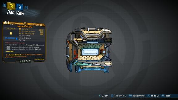 Borderlands 3 Legendary Hyperion Shield - Re-Volter