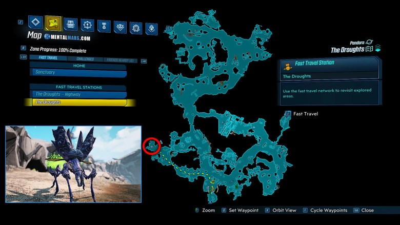 Crawly Family Map Location - Borderlands 3 Guide
