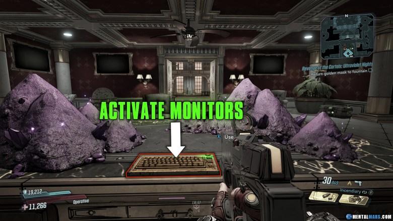 Revenge of the Cartels Puzzle - Activate Monitors - Borderlands 3