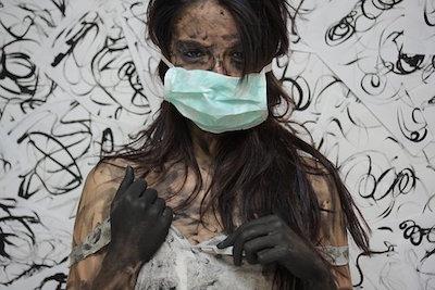 美容院でマスクをしていると汚れてしまう