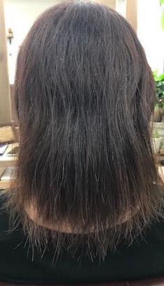 毛先がペラペラになってしまった髪