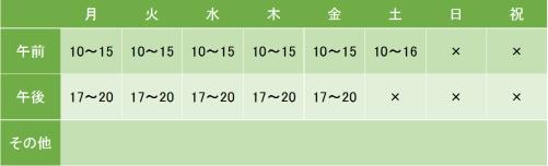 メディカルケア虎ノ門の診療時間